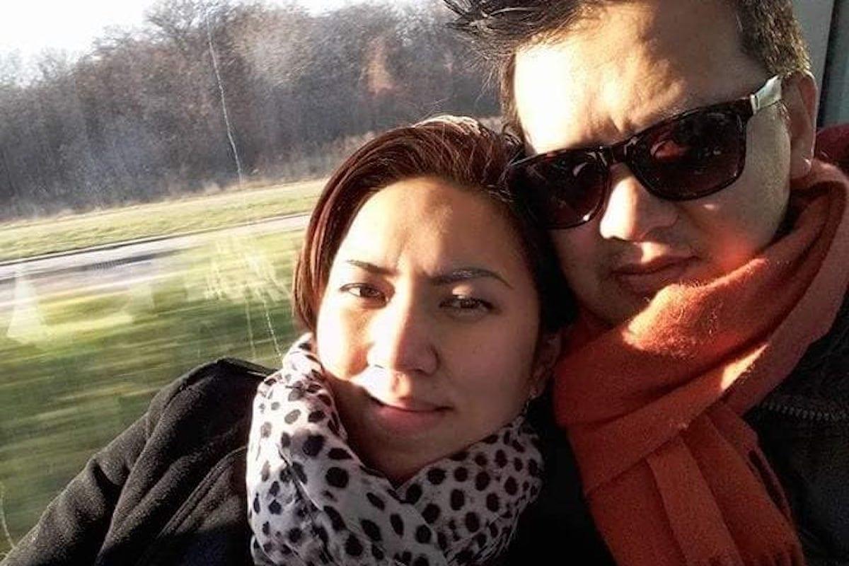 Rider e moglie selfie
