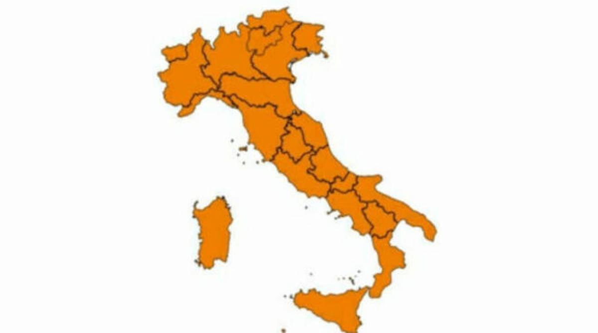 Cartina zona arancione