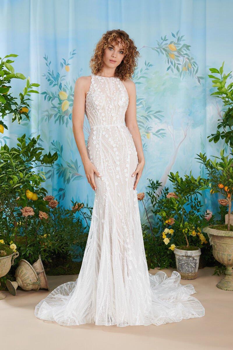 abito da sposa vintage a sirena