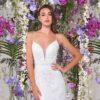 abito da sposa a sirena in pizzo