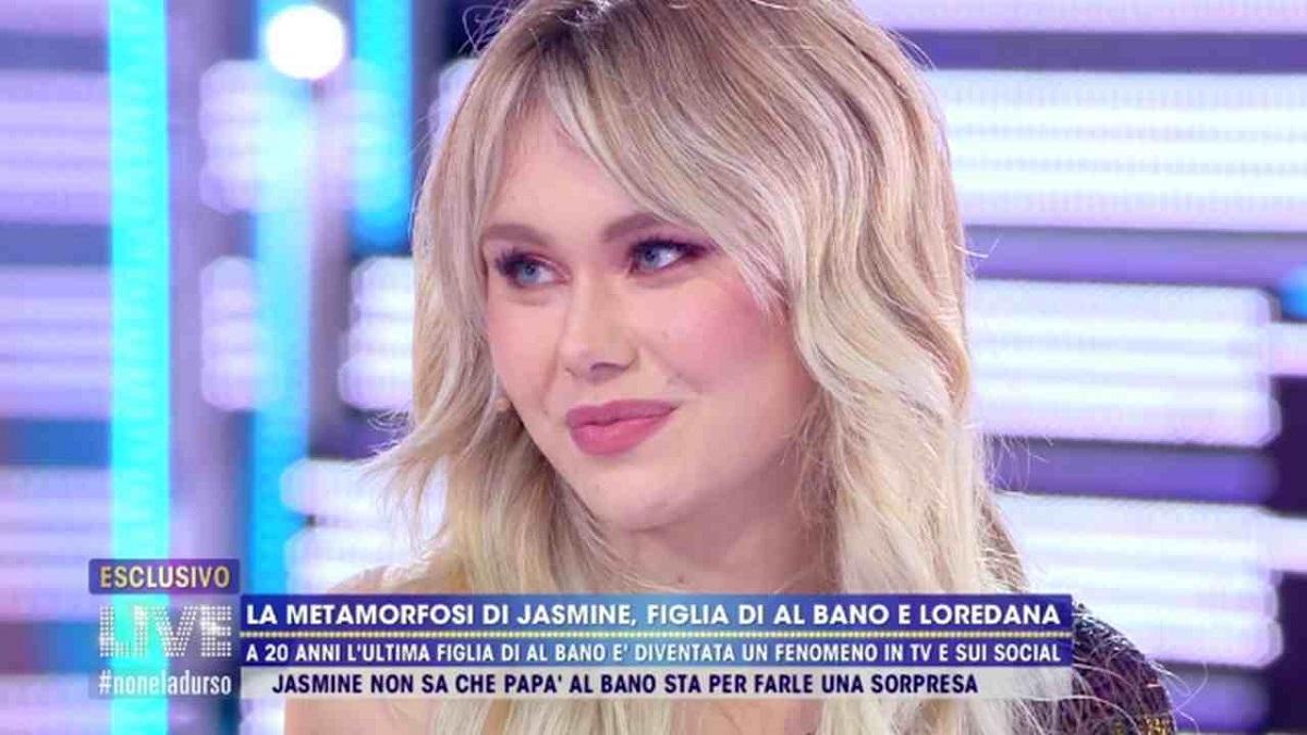 Jasmine Carrisi a Live-Non è la D'Urso rivela la sua metamorfosi