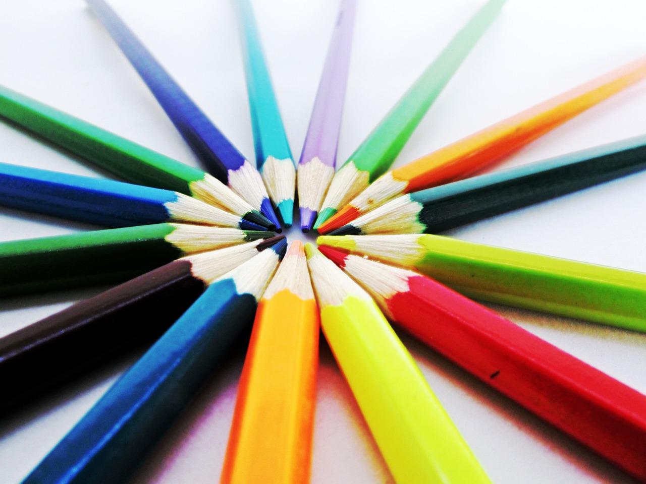 Matite colorate per scrivere