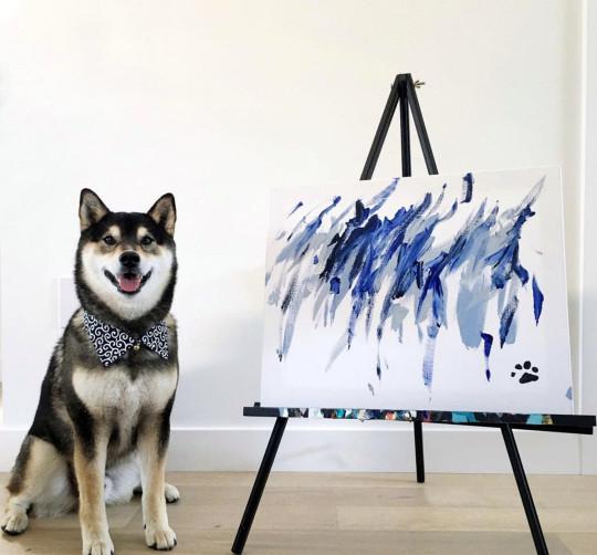 Uno dei quadri del cane Hunter