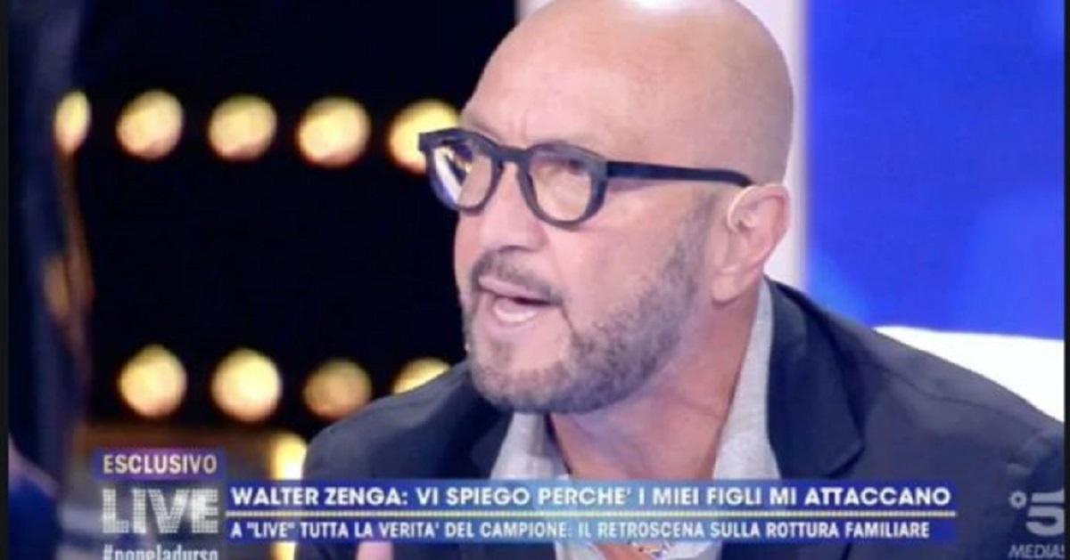 """Walter Zenga a Live-Non è la D'Urso: """"Nessuno può dire che non sono un padre"""""""