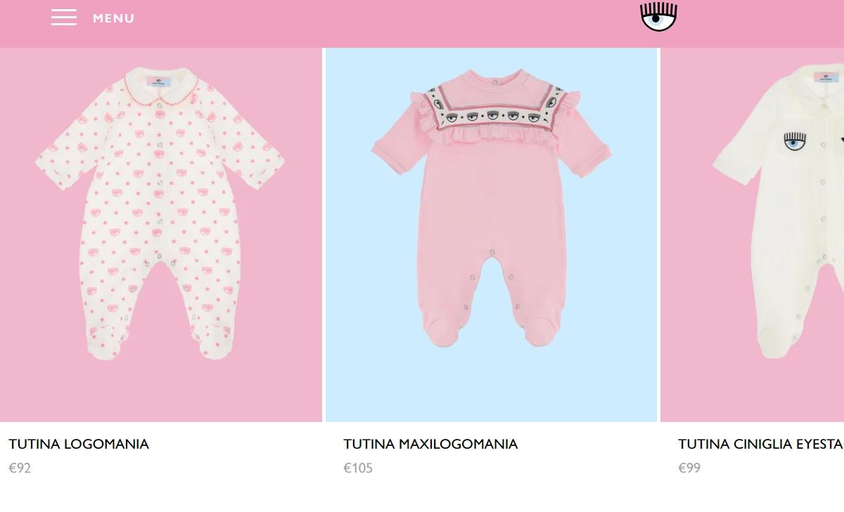 Le tutine da neonata di Chiara Ferragni