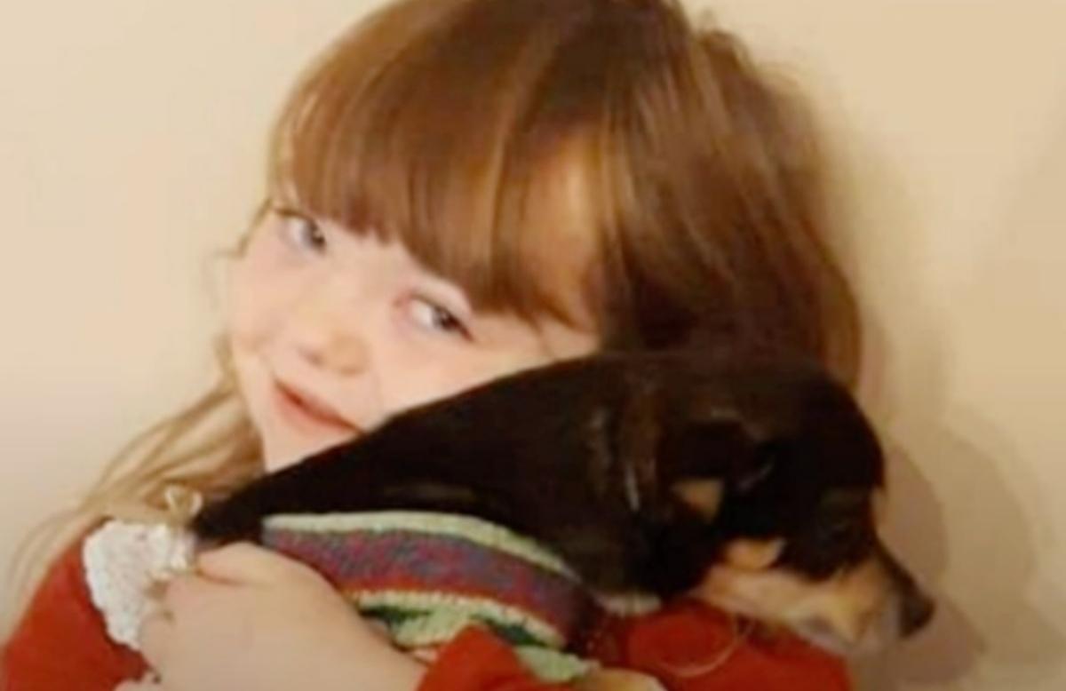 Chloe Griffin e il cane Cookie
