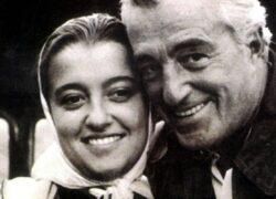 Emi De Sica insieme al padre Vittorio