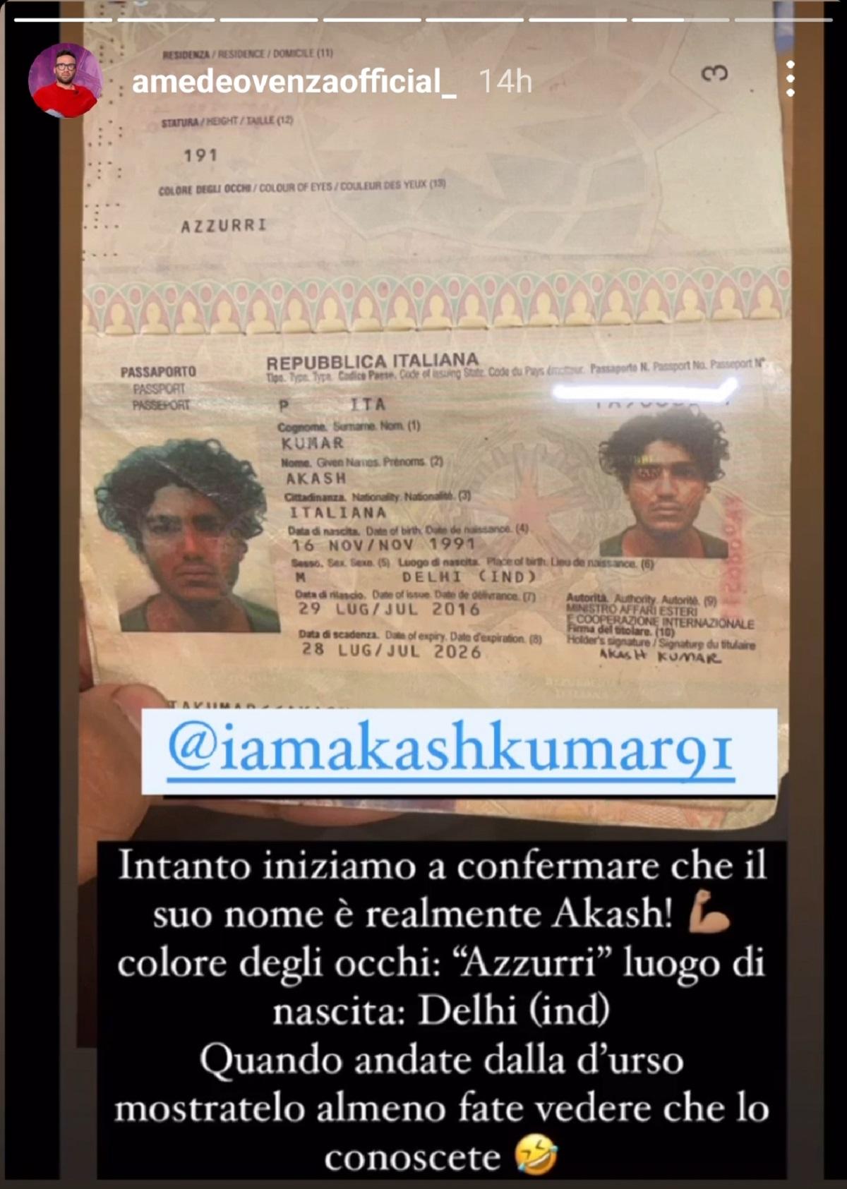 akash kumar passaporto