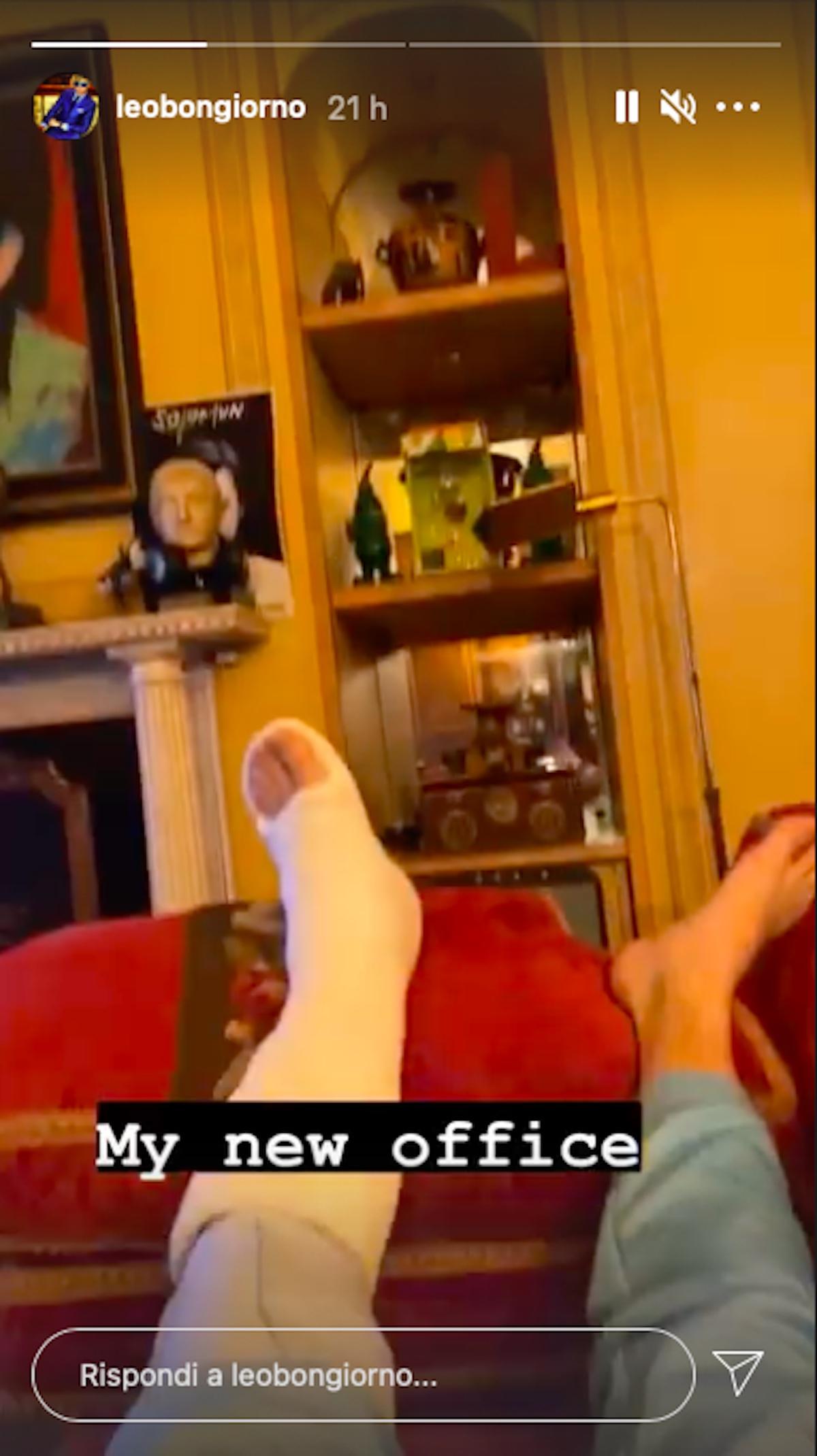 Gesso alla gamba
