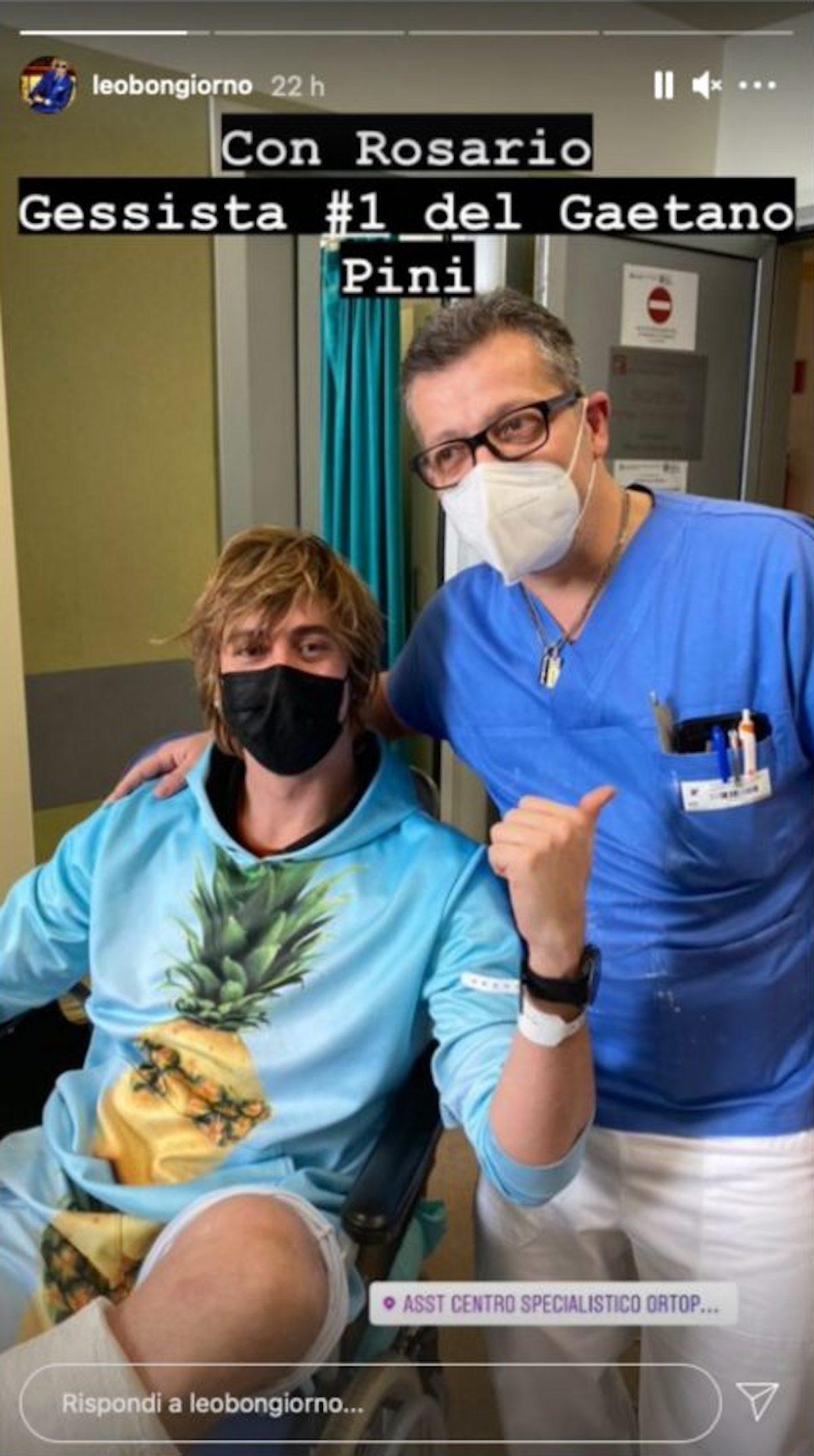 Leonardo Bongiorno in ospedale
