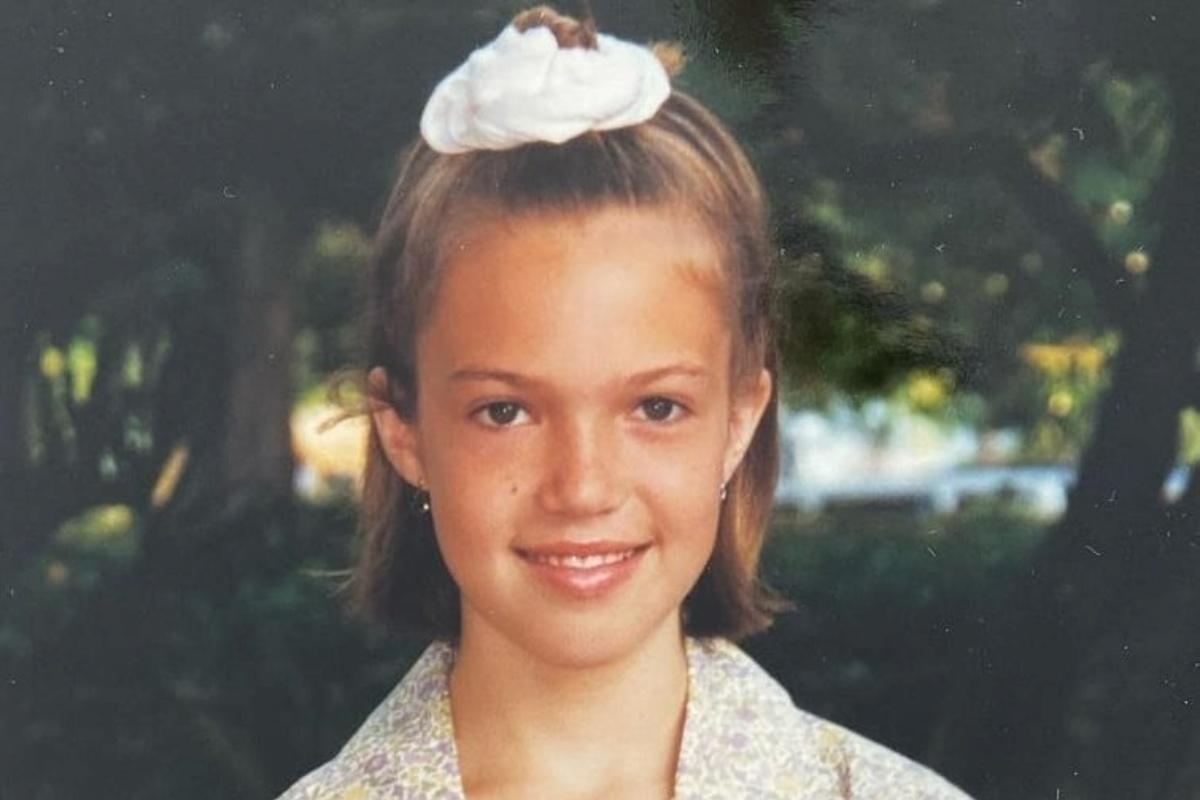 Mandy Moore e la foto da bambina