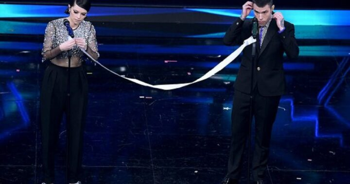 Sanremo 2021, perché Fedez e Francesca Michielin hanno cantato distanziati da un nastro?