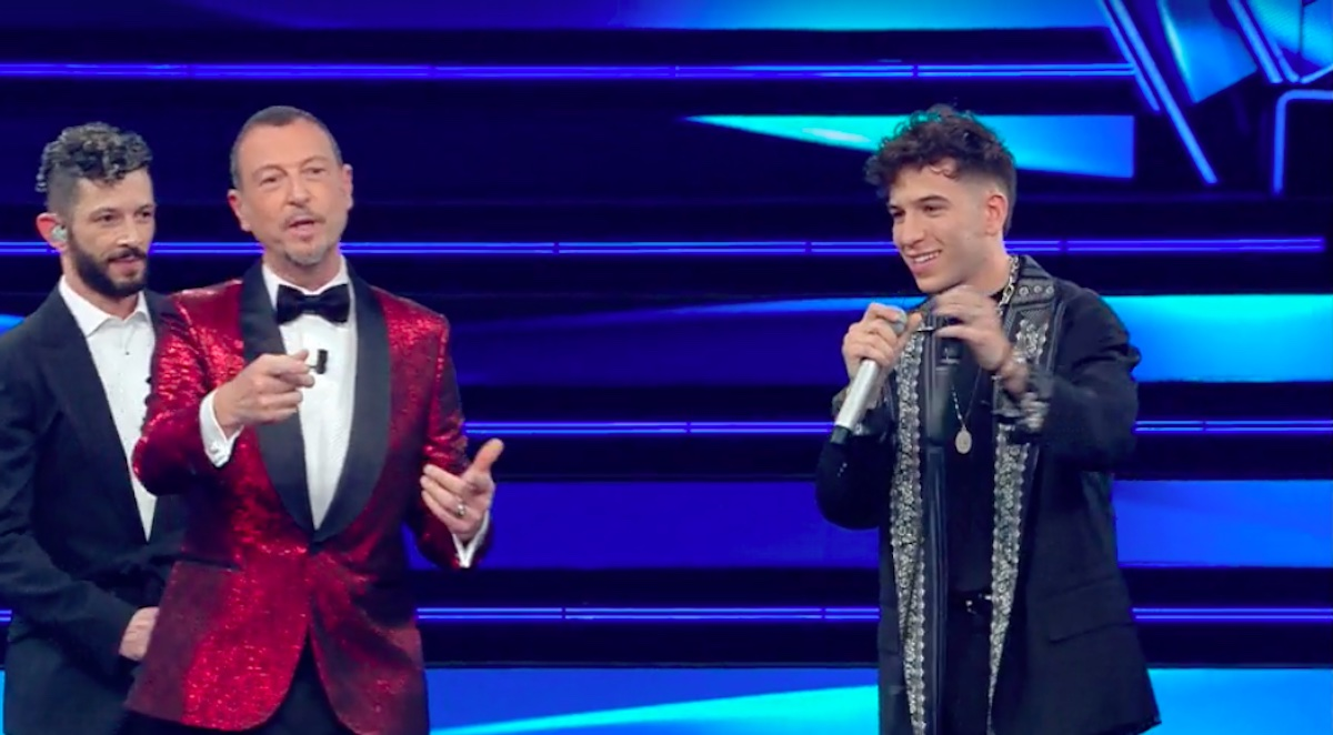 Fasma e Amadeus a Sanremo 2021