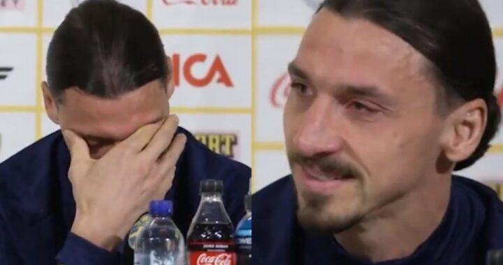 Zlatan Ibrahimovic in lacrime mentre parla dei suoi figli