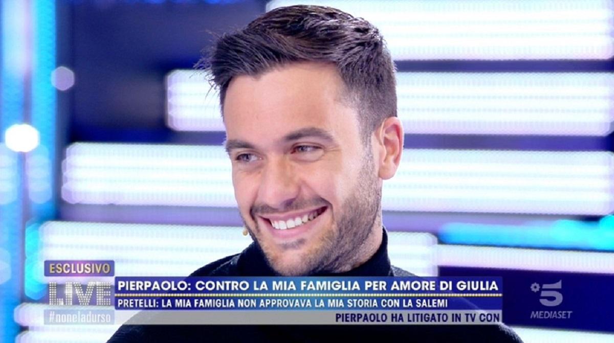 """Pierpaolo Pretelli: """"Non ho presentato Giulia alla mia famiglia"""""""