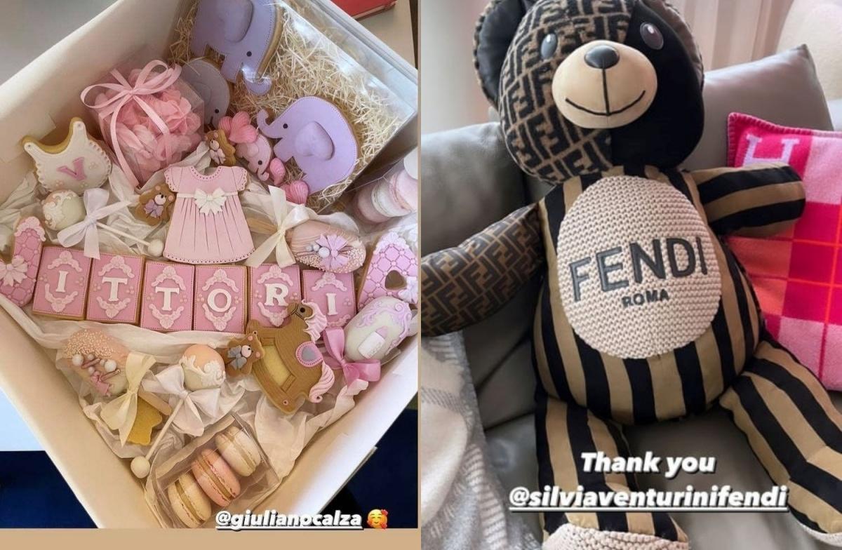 Chiara Ferragni mostra i regali per Vittoria