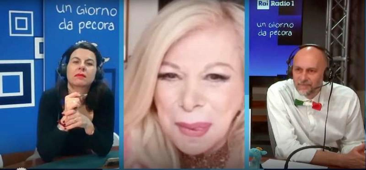 Sandra Milo finge un malore in diretta