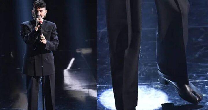 Sanremo 2021, il particolare look di Aiello sul palco dell'Ariston non passa inosservato: di cosa si tratta