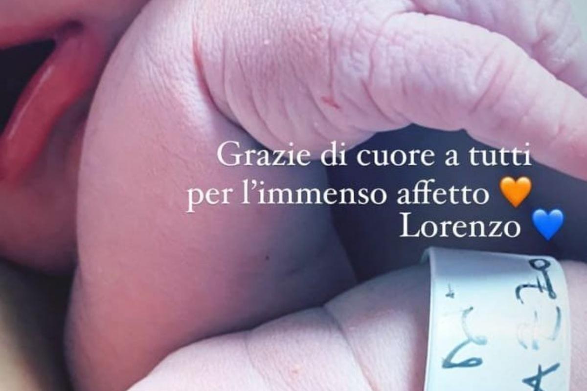 Domiziana Giovinazzo ha dato alla luce il piccolo Lorenzo