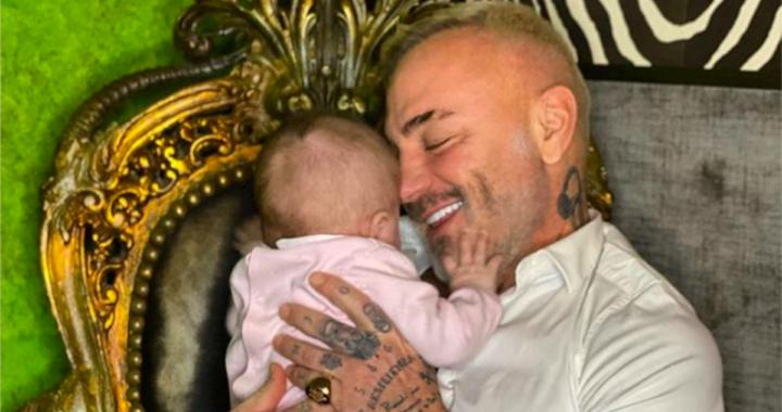 Brutto momento per Gianluca Vacchi: operata la figlia di soli 5 mesi