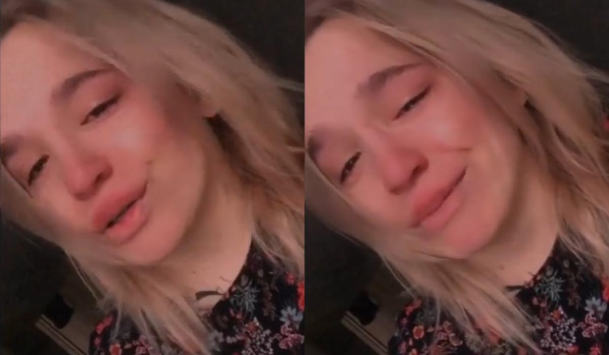 Il video di Olesya in lacrime