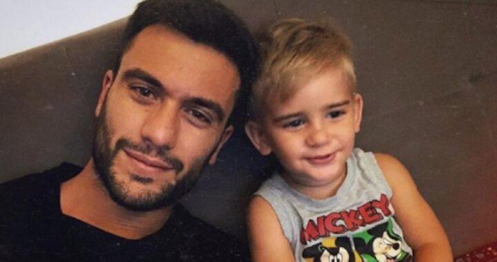 Pierpaolo Pretelli con suo figlio a Domenica Live: accade un imprevisto
