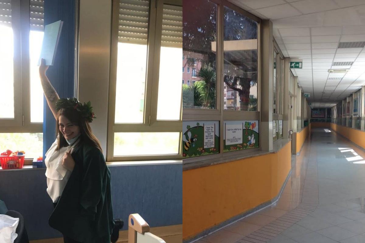 Suo figlio è ricoverato e lei si laurea nei corridoi del Sanobono di Napoli: la storia diValeria Carannante