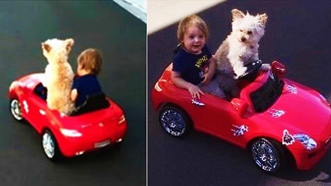 Daisy e Oliver in auto