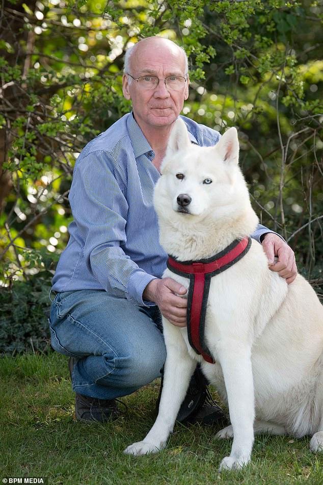 Terry Walsh e il suo cane