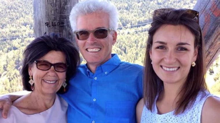 Madé Neumair con i genitori