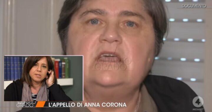 Anna Corona lancia un appello in diretta tv a Piera Maggio