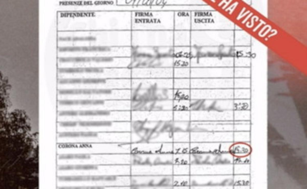 Perizia sulla firma di Anna Corona