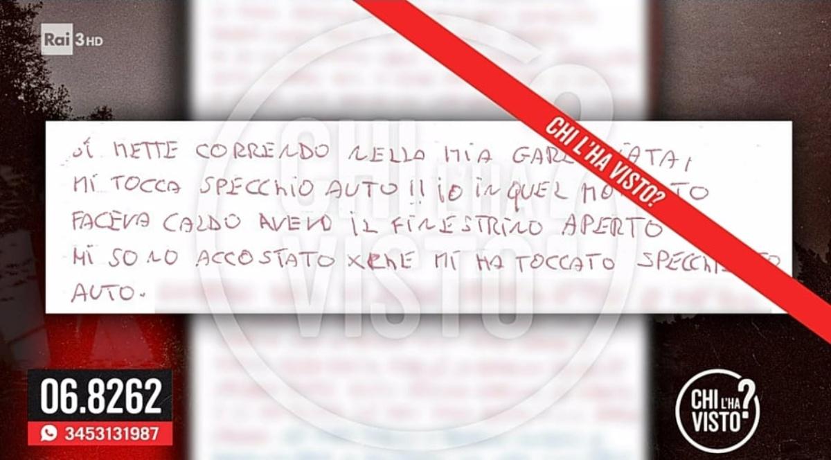 Denise Pipitone contenuto lettera anonima Chi l'ha visto