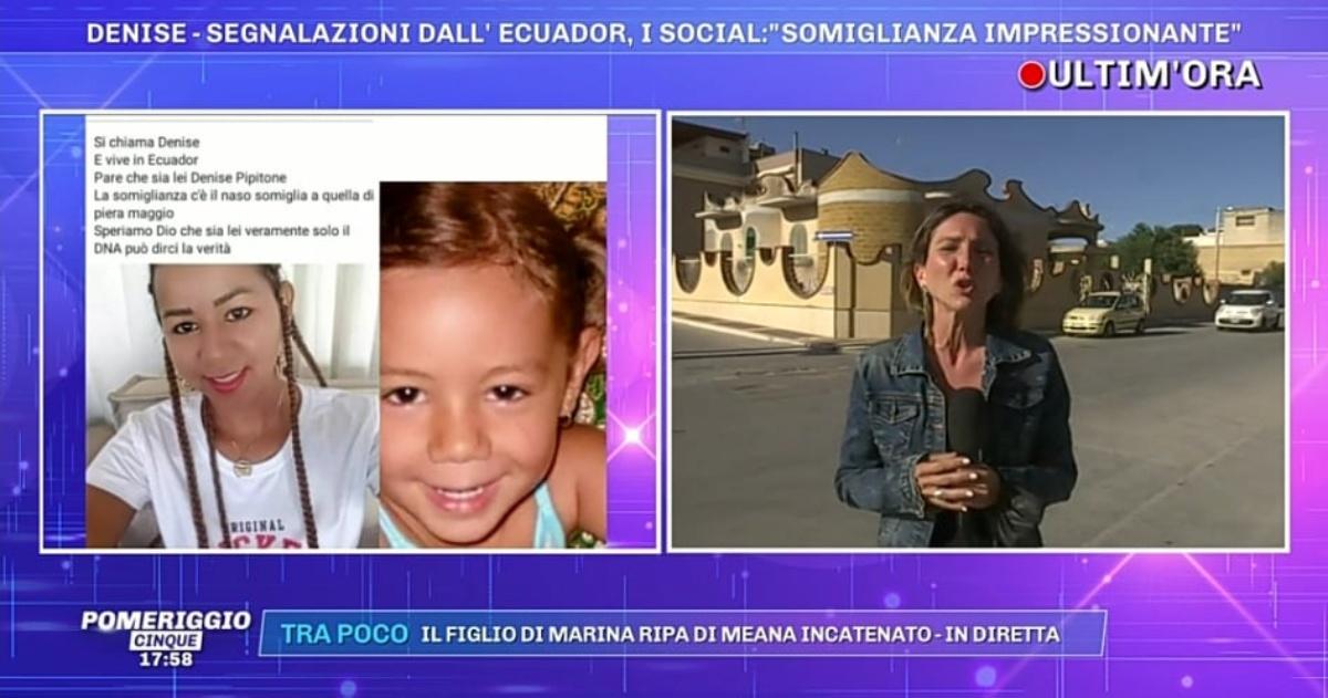 Denise Pipitone e la ragazza che vive in Ecuador