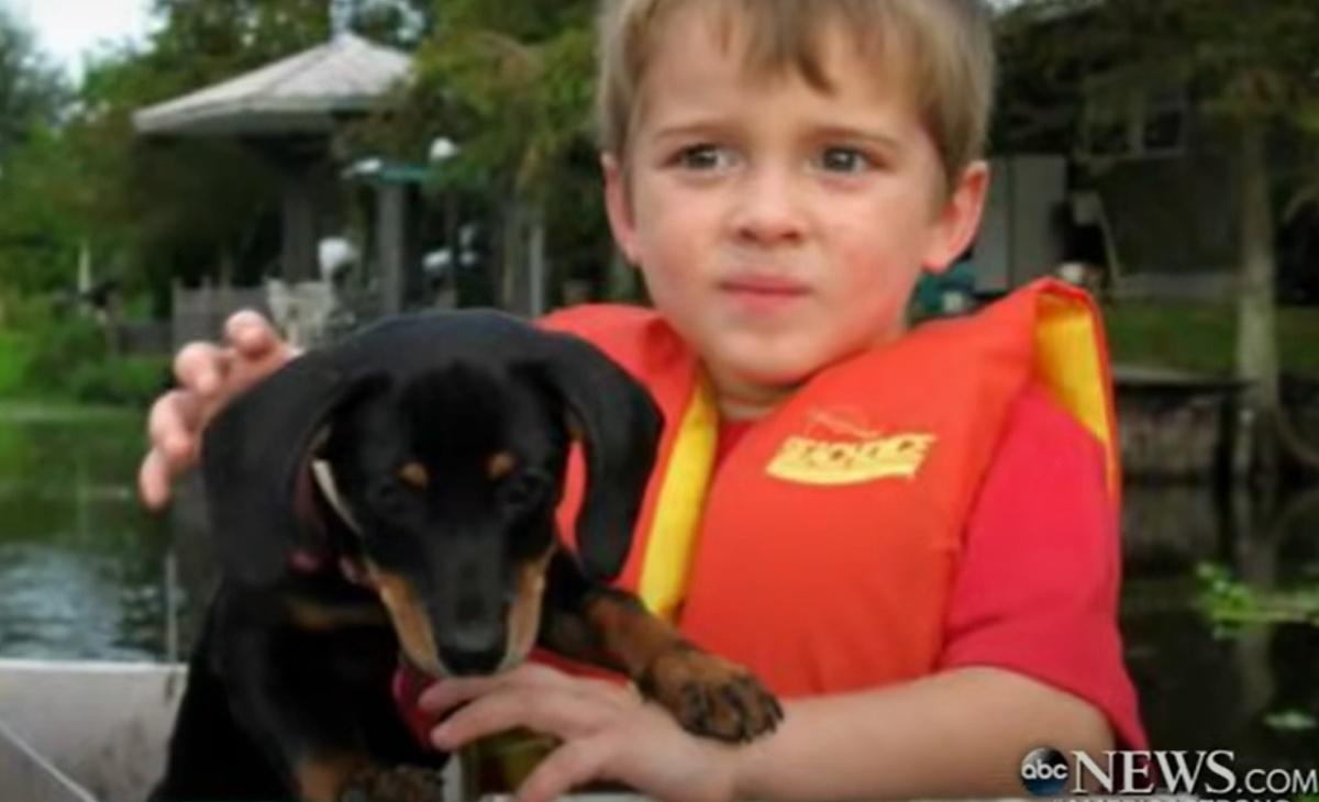 Il video della cagnolina Dutchess e del bambino