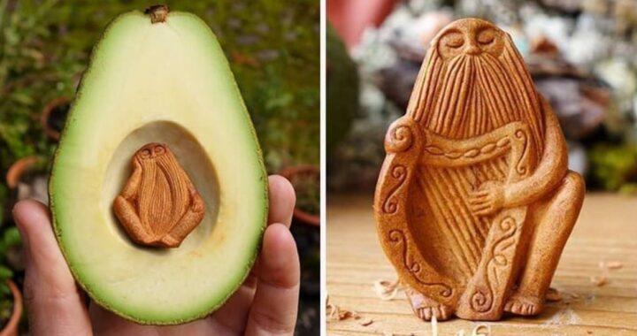 Jan Campbell: l'artista che trasforma i semi di avocado in magiche creature