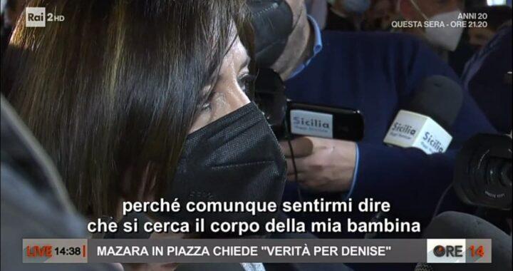 """Piera Maggio non riesce nemmeno a parlare: """"Denise va cercata viva"""""""