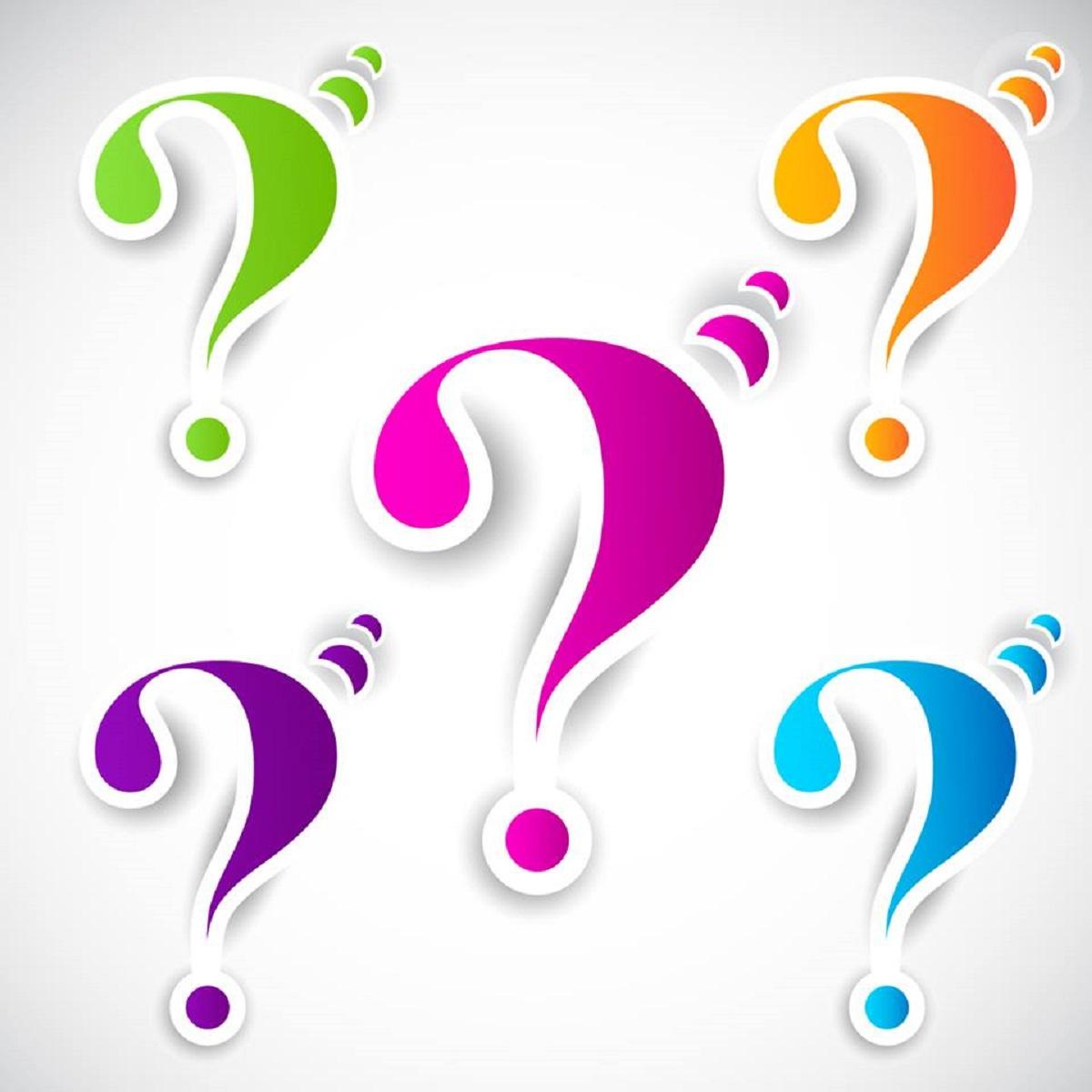punti interrogativi colorati
