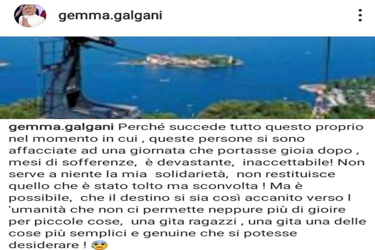 UeD, Gemma Galgani dolore tragedia Stresa