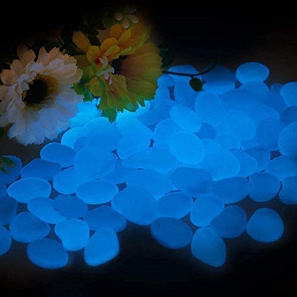 pietre luminose da giardino