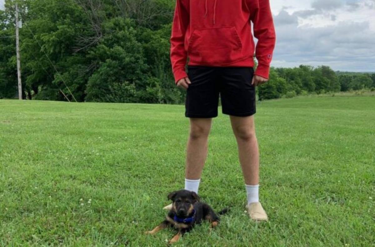 Eli Filiatreau e il cane Titan