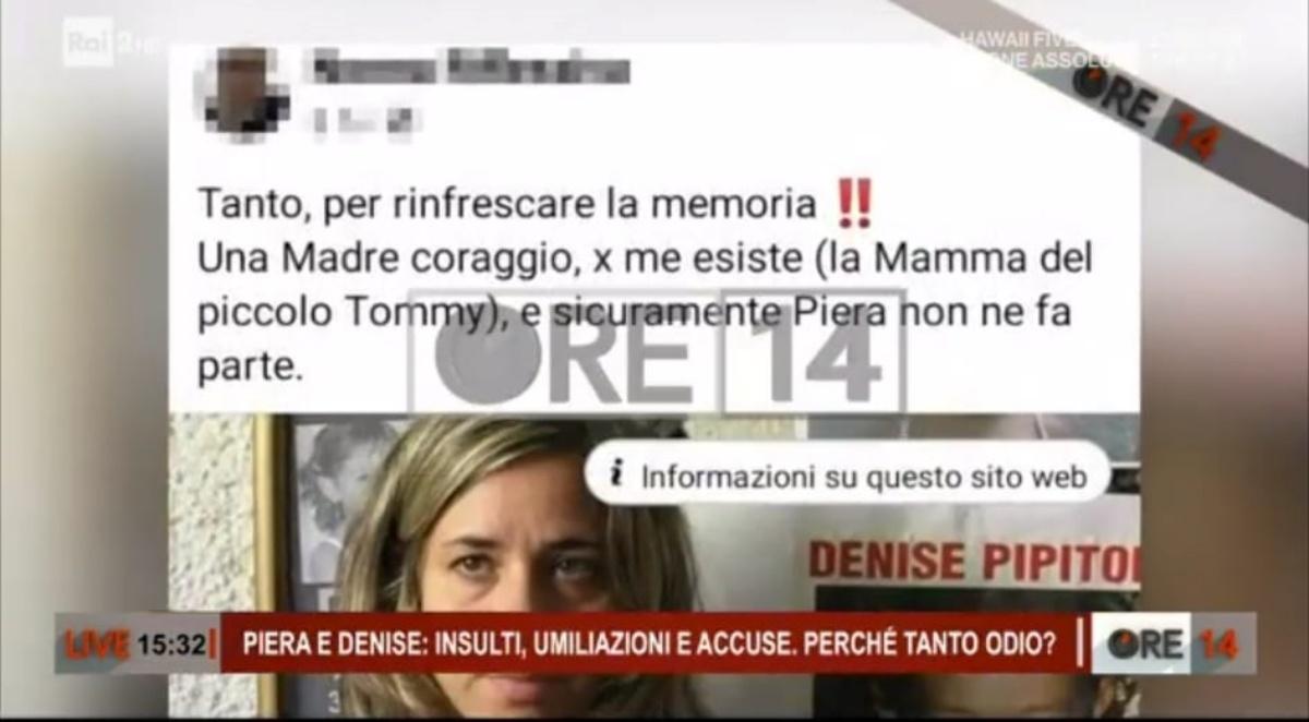 Piera Maggio e le foto sul web di persone senza scrupoli