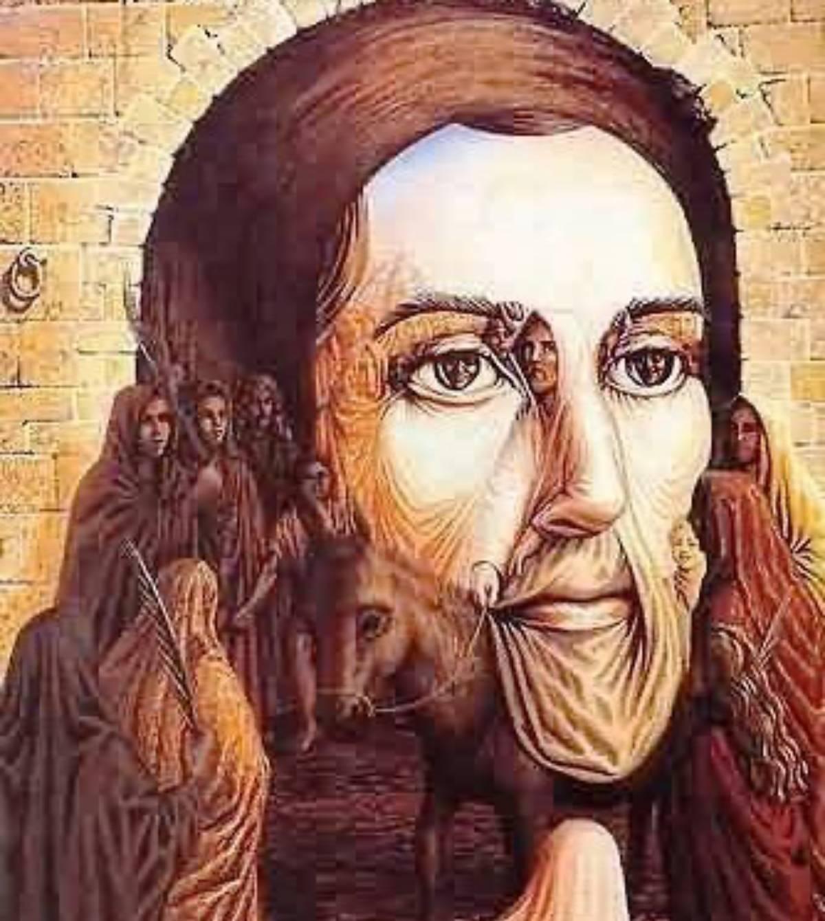 viso di Gesù disegnato