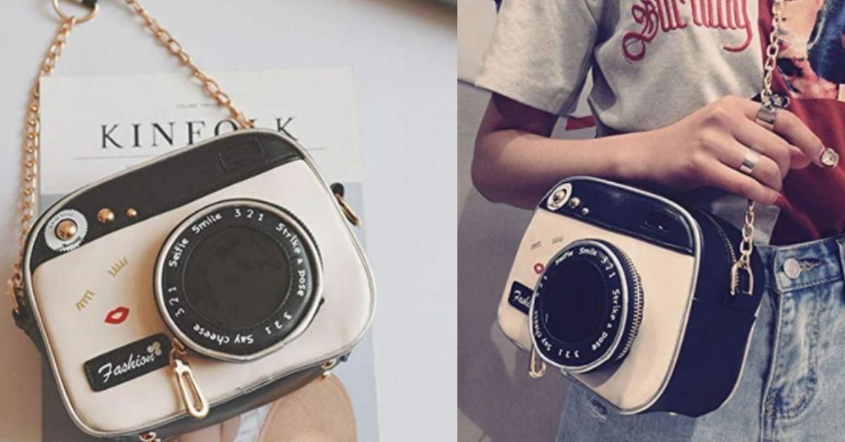 borsa a forma di macchina fotografica