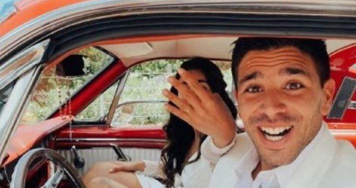 Fiori d'arancio per il noto calciatore, convolato a nozze dopo aver rimandato il matrimonio per ben sei volte