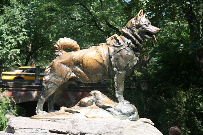 La statua dedicata a Balto