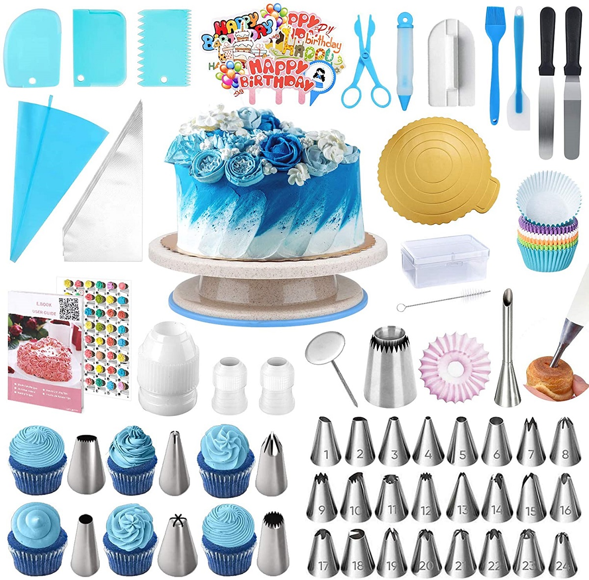 kit decorazioni torte