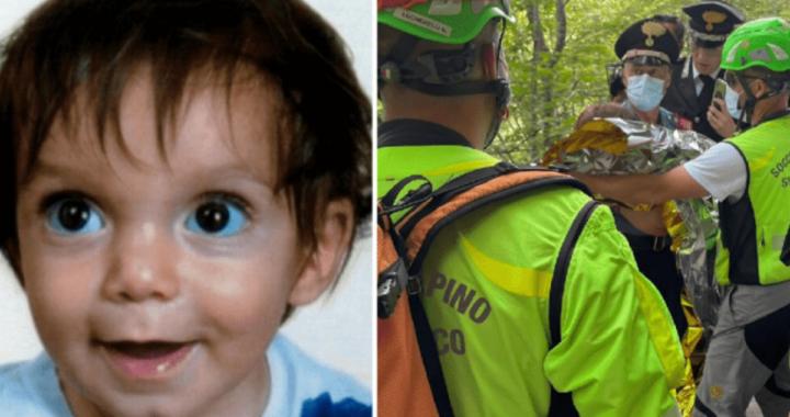 Le prime foto del ritrovamento del piccolo Nicola Tanturli, bimbo di 21 mesi scomparso