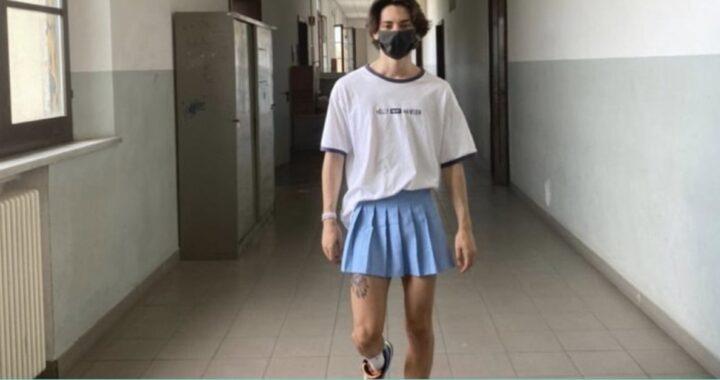 Lo studente spagnolo che combatte i pregiudizi di genere con una gonna