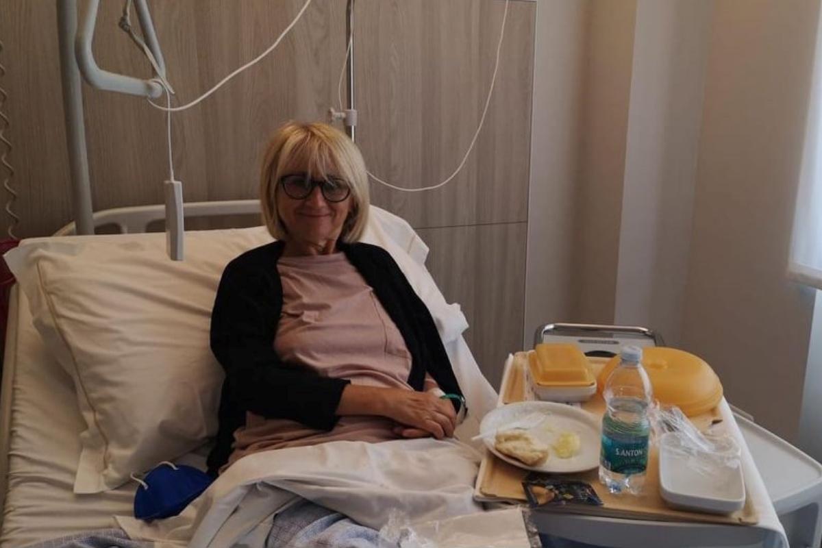 Luciana Littizzetto di nuovo in ospedale
